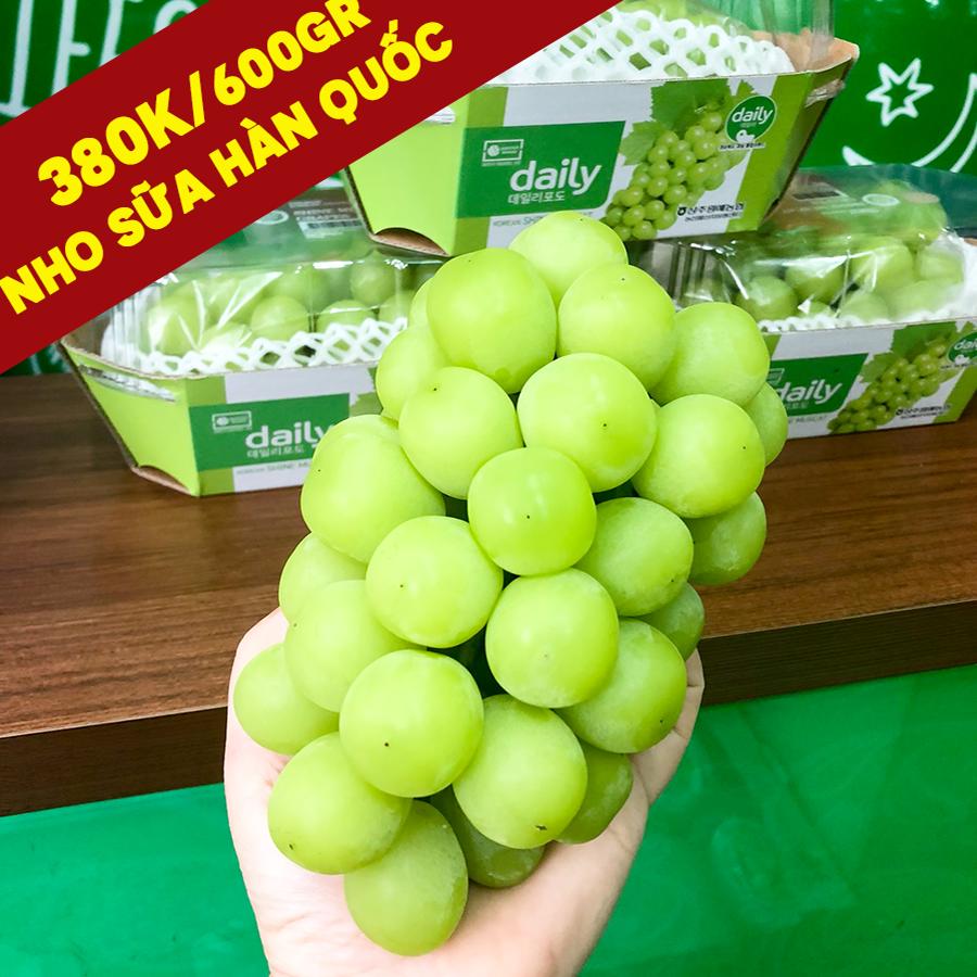 Nho sữa Hàn Quốc #380k/hộp 600gr